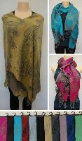 Pashmina with Fringe [Jumbo Paisley & Floral Blocks]